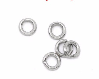 200 4 stainless steel jump rings x 0.8 mm