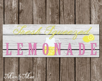 Lemonade Stand Sign, Lemonade Banner, Lemonade Birthday, Freshly Squeezed Lemonade Sign, Digital, Printable