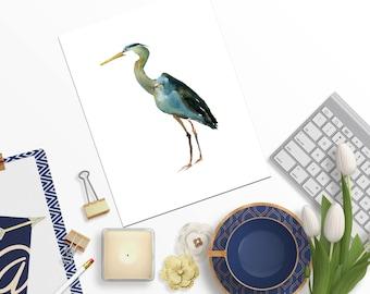 Heron,Stork,Wattercolor bird,Bird Poster,Bird Printable,Bird Nursery,Bird Wall Art,Custom Quote,Nursery Quote,Heron watercolor,Stork print