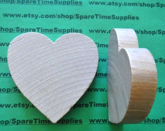"Chunky Heart - 2 1/2"" tall x 2 1/2"" wide x 1/2"" thick -  6 pcs - #WH2550WW6"