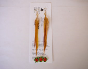 Light Colour Feather Earings ....... The MyCollection2