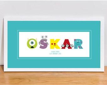 FULL Monsters Inc and University Style Alphabet Letters DOWNLOAD Vectors • Disney • Pixar
