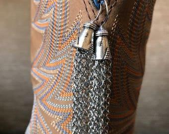 Chain Tassel Earrings, Silver Tassel Earrings