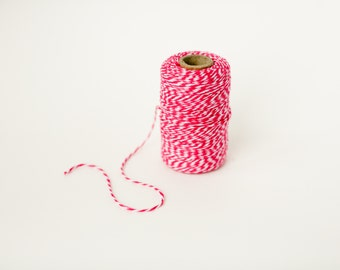 Red Baker's Twine- 110 yard- 4 Ply- Cotton String- Packaging- Gift Wrapping
