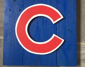 Rustic Chicago Cubs Cubbies Decorative Wood Sign