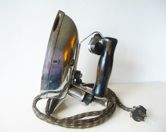 1930s GE Hotpoint Super Automatic Electric Iron - Edison Electric Appliance Company - General Electric Laundry Appliance