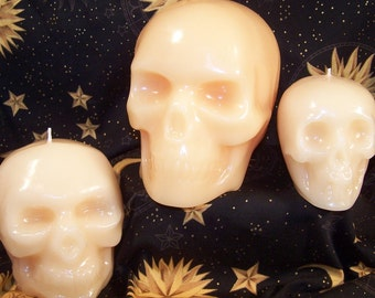LARGE SKULL Hand Made CANDLE for Ritual, Altar, Pagan, Wicca, Decor