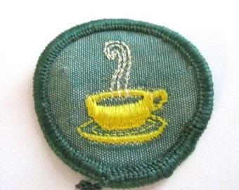 "Vintage 1960's Junior Girl Scout Badge ""Hostess"""