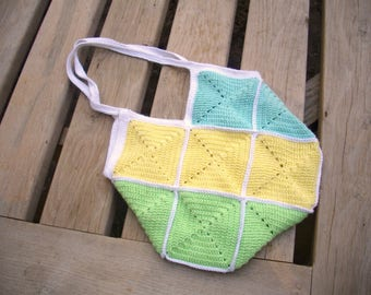 Granny squares crochet fully lined bag