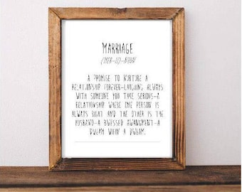 Marriage Definition Printable