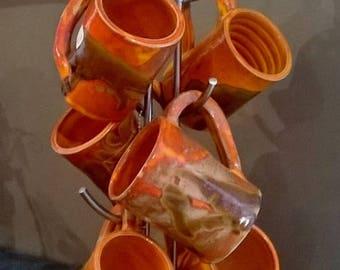 orange mug on sale