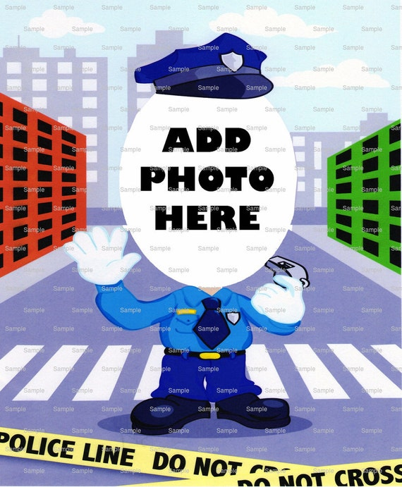 Police Man Birthday Cake Topper - Edible Cake and Cupcake Photo Frame For Birthdays and Parties! - D4679