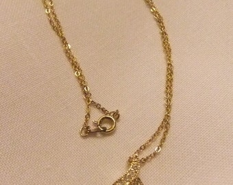Rhinestone and Faux Pearl Pendant Necklace by Roman