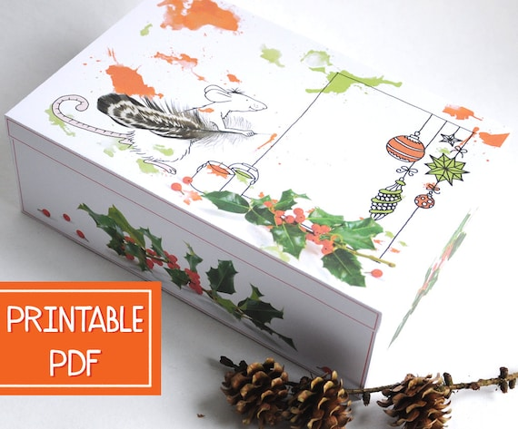 large christmas gift box inspired mouse christmas gift - Large Christmas Gift Boxes