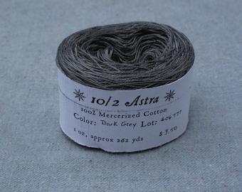 Dark Grey 10/2 Mercerized Cotton