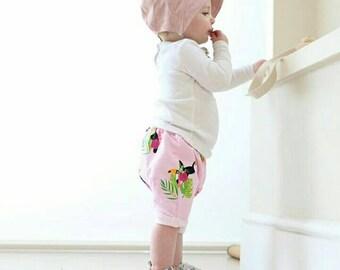 Girls Toucan Shorts, Girls Shorts, Kids Shorts, Summer Clothes, Children's Shorts, Kids Clothes, Baby Shorts, Tropical