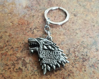 Game of Thrones House Stark Keychain