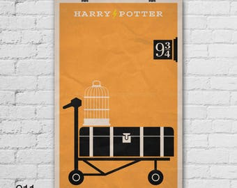 Harry Potter Poster. Movie Poster. Movie Art Print. 13x19, 16x20, 18x24, A1 size. Pop Culture and Modern Home Decor Poster. Item No. 011