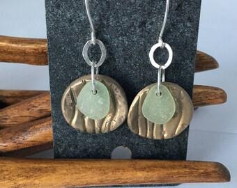 Genuine Seafoam Sea Glass Earrings