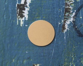 "Nickel Silver Round Stamping Blank - Metal Stamping Blank - 1"" Circle - Pack 6 - 24 Gauge - Jewelry Stamping Blank - SGMET-600.15G"
