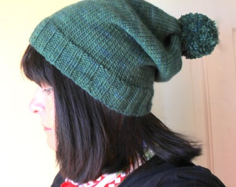 Bobble Hat/Stocking Cap Knitting Pattern in Six Sizes - Very Easy
