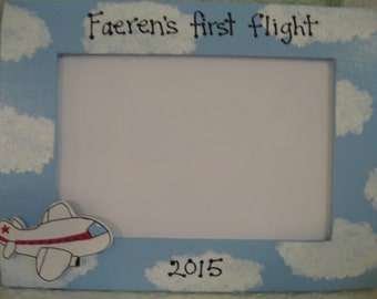 My first airplane ride frame child jet personalizedpicture frame