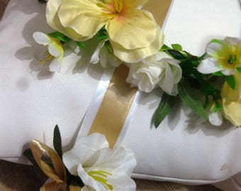 KIT Bridesmaid cuff + white and gold crown