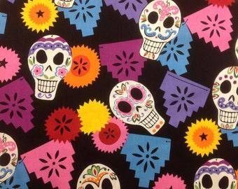 Alexander Henry Fabric Puebla Black Bkg 1 Yard