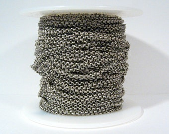 2.0mm Rolo Chain - Antique Silver - 2.0mm Links - CH48 - Choose Your Length