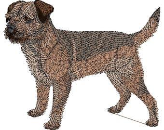 Border Terrier Dog Embroidered Towels, Dog Towels, Personalised Towels, Border Terrier 1