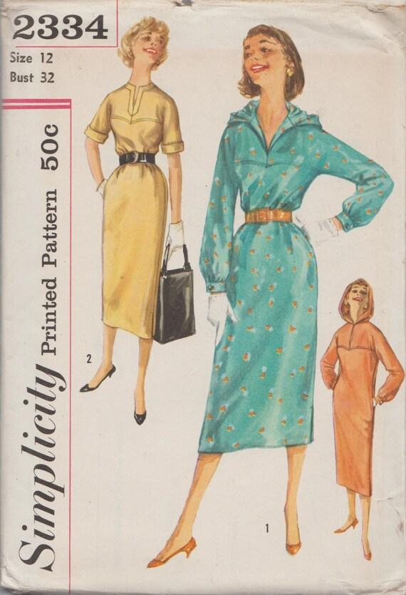Einfachheit 2334 / Vintage 50er Jahre Schnittmuster / Hoodie