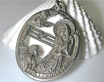 Sterling Silver Reina De Los Angeles Pendant