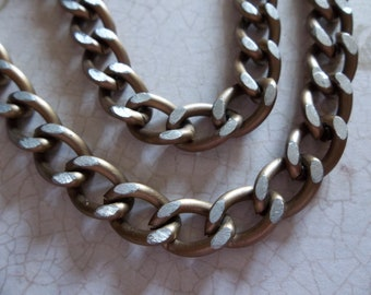 Lightweight Gold Finish Aluminum Chunky Curb Chain 8 X 14mm Links - 30 inches