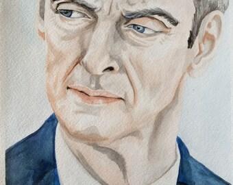 Watercolour Twelfth Doctor Who Peter Capaldi Deep Breath