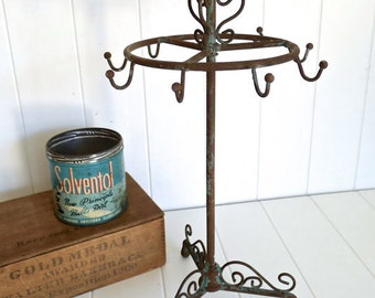 CLEARANCE Sale 1 New Bird Jewelry Stand Tree with multiple hooks and Patina Finish