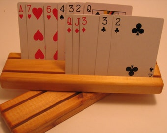 Set of 2 Cedar Playing Card Holders