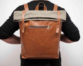 Backpack,Leaf Roll Top Backpack,Laptop Backpack,Travel Bag,Canvas Backpack, Travel Bag,Travel backpack, Leather Backpack,Canvas Backpack