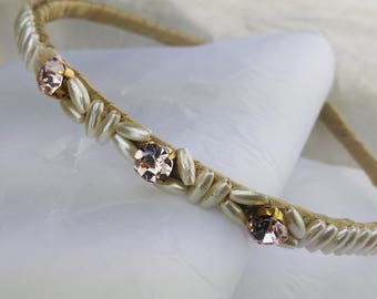 Wedding Headband Bridal Hair Accessories Rhinestone and Pearl Headband Headpiece