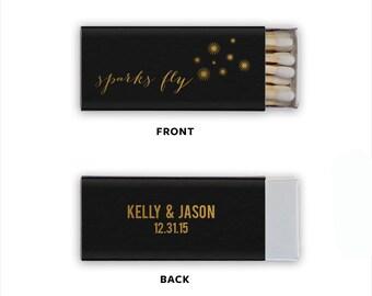 Sparks Fly Personalized Wedding Favor Matchbooks