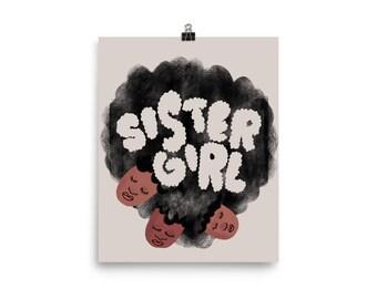 Sister Girl Art Print