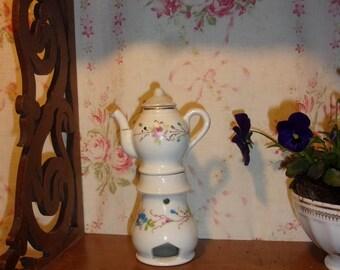 A lovely old Paris porcelain doll vintage teapot 19th century