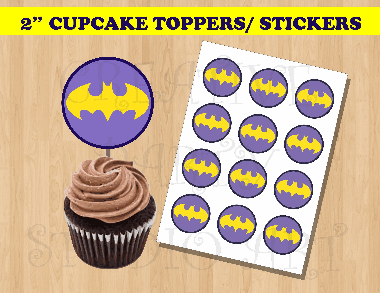 Batgirl Cupcake Toppers Batgirl Birthday Party Batgirl Party