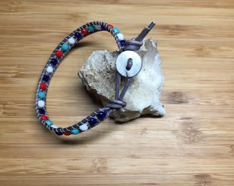 Red White & Blues 1Wrap Bracelet