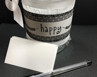 "Handmade ""Happy"" Jar"