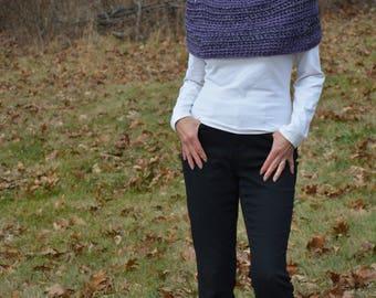 Purple Poncho, Purple Cowl, Crochet Poncho, Bohemian Poncho, Women Wear, Winter Clothing, Winter Accessory, Poncho, Handmade Poncho, Cowl