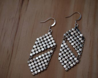 Upcycled Silver Glomesh Earrings FREE POSTAGE within Australia