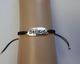 Believe bracelet - believe charm - inspirational bracelet - inspirational jewelry - inspirational jewellery - believe jewelry - believe