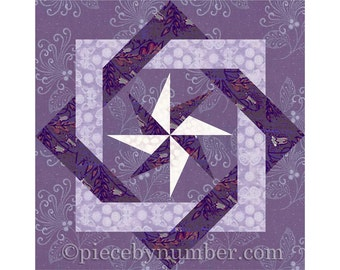 Interlocked Squares quilt block, paper pieced quilt patterns, instant download, PDF quilt pattern, celtic knot patterns, knot quilt