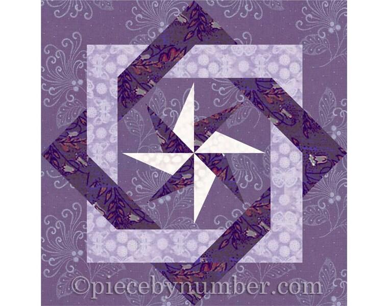Interlocked Squares quilt block paper pieced quilt patterns : pdf quilt patterns - Adamdwight.com