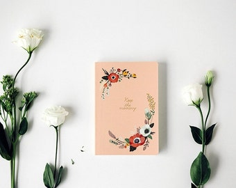 Undated Journal + Cotton Pouch [ 8 Types ] / Planner / Diary / Agenda / Journal / Bullet Journal / Personalised Planner